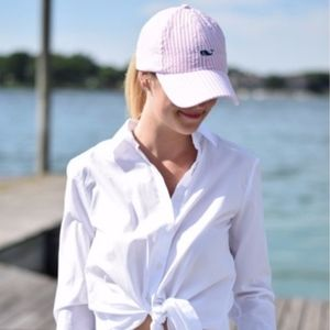 Vineyard Vines Seersucker Pink & White Hat